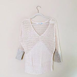 Anthropologie V neck Sparrow Sandy Sweater